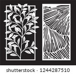 decorative modern laser cut... | Shutterstock .eps vector #1244287510