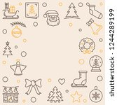 xmas holiday square vector...   Shutterstock .eps vector #1244289199