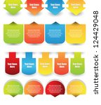 web element collection | Shutterstock .eps vector #124429048
