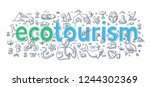ecotourism  responsible... | Shutterstock .eps vector #1244302369