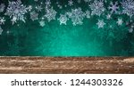 christmas table background | Shutterstock . vector #1244303326