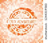 gold membership orange mosaic... | Shutterstock .eps vector #1244319583