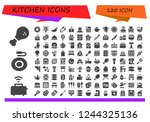vector icons pack of 120 filled ...   Shutterstock .eps vector #1244325136