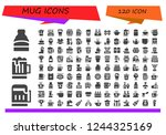 vector icons pack of 120 filled ... | Shutterstock .eps vector #1244325169