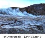 early morning geyser shot at... | Shutterstock . vector #1244332843