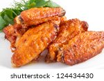 buffalo chicken wings | Shutterstock . vector #124434430