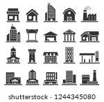 building facade construction... | Shutterstock .eps vector #1244345080