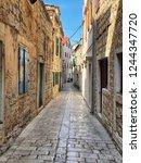beautiful mediterranean old town   Shutterstock . vector #1244347720