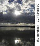 molentargius pond at sunset ... | Shutterstock . vector #1244348590