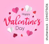 happy valentine's day card... | Shutterstock .eps vector #1244375656