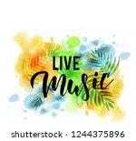 live music   handwritten modern ... | Shutterstock .eps vector #1244375896