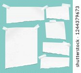 white ripped notebook paper ... | Shutterstock .eps vector #1244379673