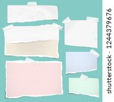 white and colorful ripped... | Shutterstock .eps vector #1244379676