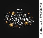 merry christmas calligraphic...   Shutterstock . vector #1244382733