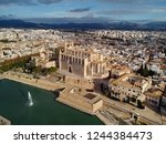 aerial above drone view palma...   Shutterstock . vector #1244384473