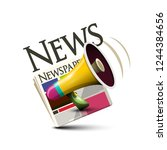 news icon. vector symbol with... | Shutterstock .eps vector #1244384656