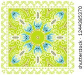 decorative colorful ornament on ... | Shutterstock .eps vector #1244385370