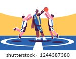 professional basketball players ... | Shutterstock .eps vector #1244387380