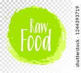 raw food diet label  green... | Shutterstock .eps vector #1244393719
