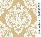 damask seamless vector...   Shutterstock .eps vector #1244393890