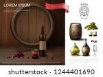 realistic winemaking colorful... | Shutterstock .eps vector #1244401690