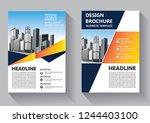 brochure design  cover modern... | Shutterstock .eps vector #1244403100