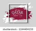 qatar national day. 18th... | Shutterstock .eps vector #1244404153