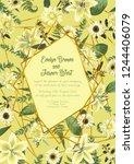 wedding floral invitation ... | Shutterstock .eps vector #1244406079