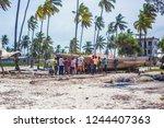 zanzibar  tanzania   january...   Shutterstock . vector #1244407363