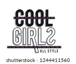 Slogan Cool Girls For Tshirt...