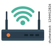 router flat icon. router icon.... | Shutterstock .eps vector #1244412826