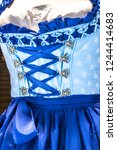 part of a traditional dirndl  ... | Shutterstock . vector #1244414683
