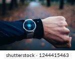 sport modern watch  icon of... | Shutterstock . vector #1244415463