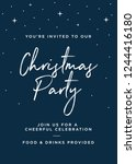 christmas party invitation... | Shutterstock .eps vector #1244416180