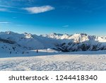 panorama of the alpine... | Shutterstock . vector #1244418340