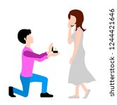 man proposing marriage to his... | Shutterstock .eps vector #1244421646