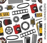 vehicle service seamless...   Shutterstock .eps vector #1244423293