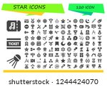 vector icons pack of 120 filled ... | Shutterstock .eps vector #1244424070