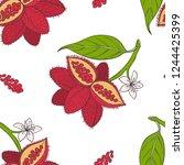 seamless pattern of bixa... | Shutterstock .eps vector #1244425399