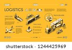 business logistics isometric... | Shutterstock .eps vector #1244425969