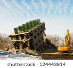 Demolition Of Old Abandoned...