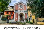 ancient lutheran church santa... | Shutterstock . vector #1244447359