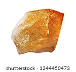 citrine rock isolated on the... | Shutterstock . vector #1244450473