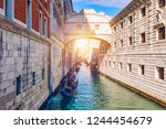 view of the bridge of sighs ... | Shutterstock . vector #1244454679