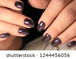 sexy gray manicure on a trendy... | Shutterstock . vector #1244456056