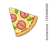 pizza slice isolated | Shutterstock .eps vector #1244468260