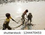 gangasagar  india 14 january... | Shutterstock . vector #1244470453