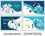 set isometric concept template... | Shutterstock .eps vector #1244478196