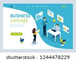 website template landing page... | Shutterstock .eps vector #1244478229