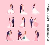 flat style illustration with... | Shutterstock .eps vector #1244478520
